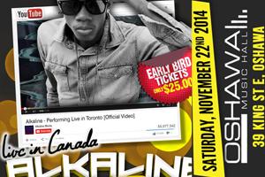 Alkaline Return Tour at Oshawa Music Hall Nov 22