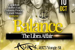 Balance - The Libra Affair inside Aura Lounge 10.12.14