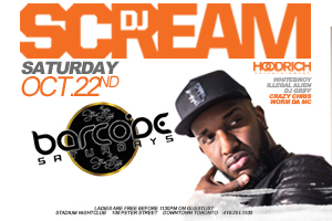 Barcode Saturdays continues Saturday October 22nd Downtown inside Stadium Nightclub featuring DJ Scream