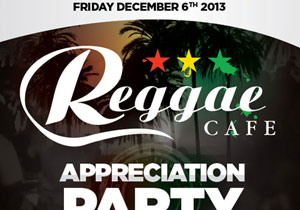 Reggae Cafe Friday December 6th at Guvernment