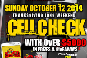 Cell Check inside LUXY Giving Away $5000 In Prizes Thanksgiving Long Weekend Sunday