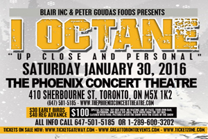 I-Octane Live in Concert Saturday January 30th at Phoenix