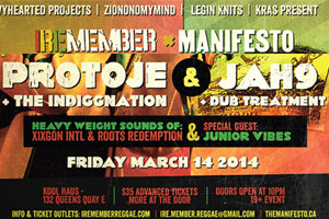 Protoje and The Indiggnation at IREMEMBER inside Kool Haus 03.14.14