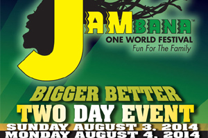 Jambana One World Festival Sun Aug 3rd and Mon Aug 4th at Markham Fair Grounds