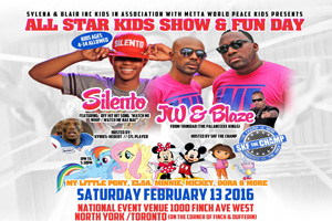 All Star Kids Show & Fun Day featuring Silento Saturday February 13 @ the National Event Venue