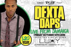 Dexta Daps Live @ TGIF Fridays inside Luxy Nightclub 10.14.16