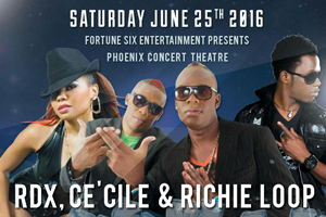 RDX, Ce'Cile, Richie Loop, Saturday June 25th @ Phoenix Concert Theatre | $35 Limited Early Birds