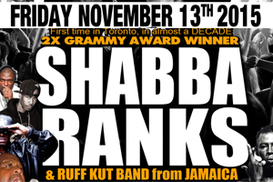 Shabba Ranks, Ruff Kut Band, & Metromedia at Sound Academy 11.13.15