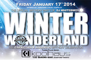 Winter Wonderland Capricorn-Aquarius DJ Whitebwoy Birthday Party at Kool Haus 01.17.14