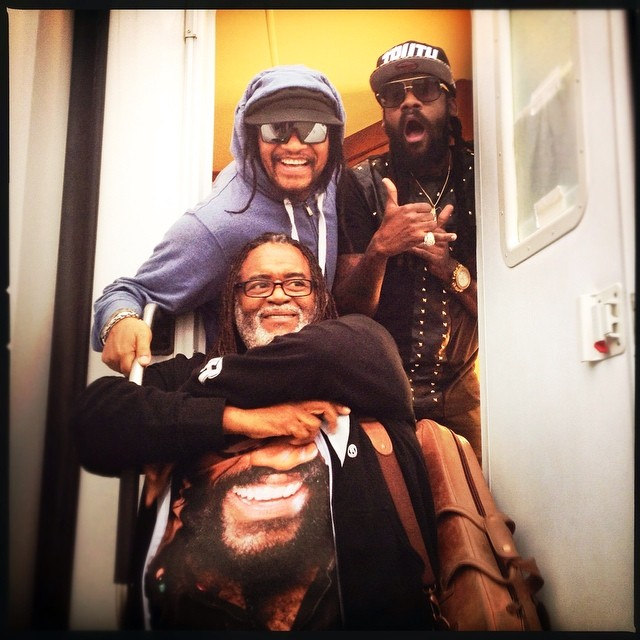 Three the hard way.... jamaica 's finest ... @therealmaxipriest @tarrusrileyja…