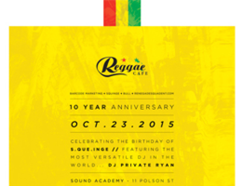 Reggae Cafe 10th Anniversary & Squinge Birthday Celebration at Sound Academy Friday October 23rd