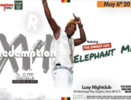 R.A.W. Redemption (XVI) All White feat. The Energy God – Elephant Man inside TGIF Fridays @ Luxy
