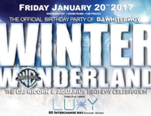 Friday January 20th 2017 TGIF Fridays @ Luxy Nightclub present Winter Wonderland-The Official Birthday Party of DJ Whitebwoy & Capricorn-Aquarius Birthday Celebration
