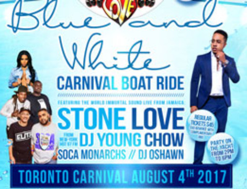Stone Love Blue & White Carnival Boat Ride aboard the Empress of Canada Friday August 4th