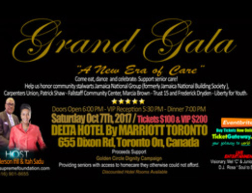 You are cordially invited to the A-Supreme Foundation Grand Charity Gala – Saturday October 7th at the Delta Hotel by Marriott Toronto featuring Keynote Speaker The Most Honourable Juliet Holness, MP
