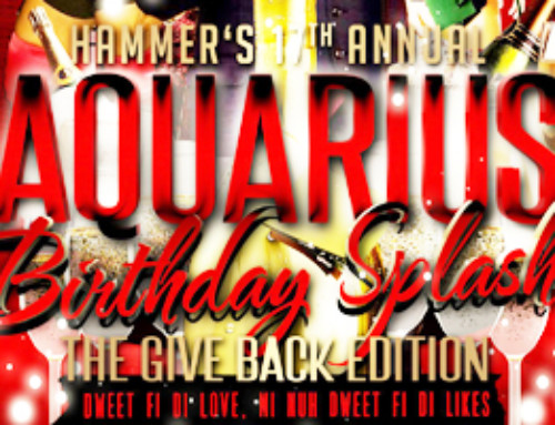 Saturday February 3rd Red & Black Affair Hammer's 17th Annual Aquarius Birthday Splash